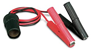 Roadpro 12V Battery Clip-On and Cigarette Lighter Adapter from Roadpro