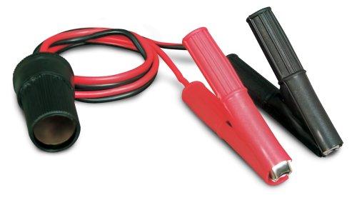 Roadpro 12V Battery Clip-On and Cigarette Lighter Adapter