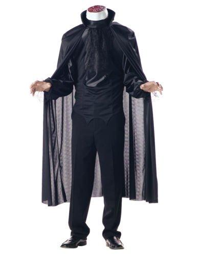 [Headless Horseman Sleepy Hallow Classic Horror Mens Halloween Party Costume M] (Headless Woman Halloween Costume)