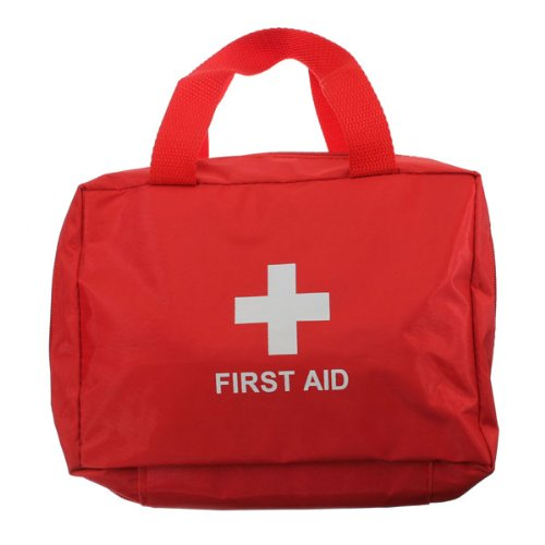 Outdoor Traveling Oxford Fabric 17 in 1 First Aid Kit Bag Red