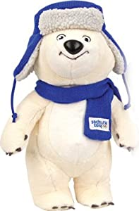 "Polar Bear Official Mascot of Sochi 2014 in Ushanka Hat (12.5"")"