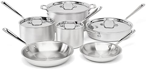 Tri-Ply Bonded 10-Piece Cookware Set