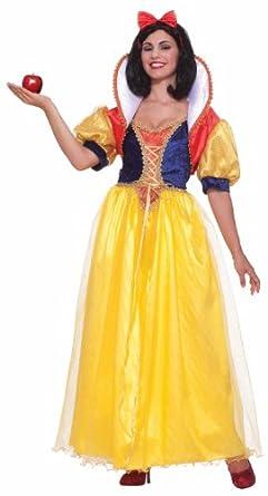 Forum Fairy Tales Fashions Snow White Costume, Yellow/Blue, Plus