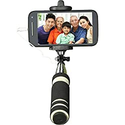 GadgetGuru Mini Pocket Selfie stick for android and iphone black colour