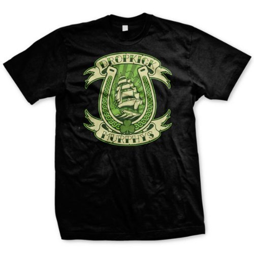 Dropkick Murphys - Uomo Horseshoe T-Shirt, Small, Nero