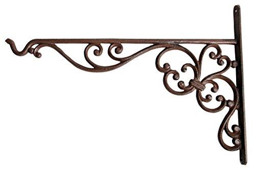 Esschert Design BPH28 - Gancio di supporto da parete per appendere vasi portafiori, 20,8 x 2,4 x 18,5 cm