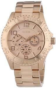 Guess Damen-Armbanduhr Analog Quarz Edelstahl W0231L4