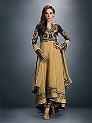 Diya Women's Blue Georgette Designer Dress Materials [DS_JCN1022_B]