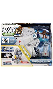 Jedi Force Millenium Falcon with Han Solo and Chewbacca by Star Wars