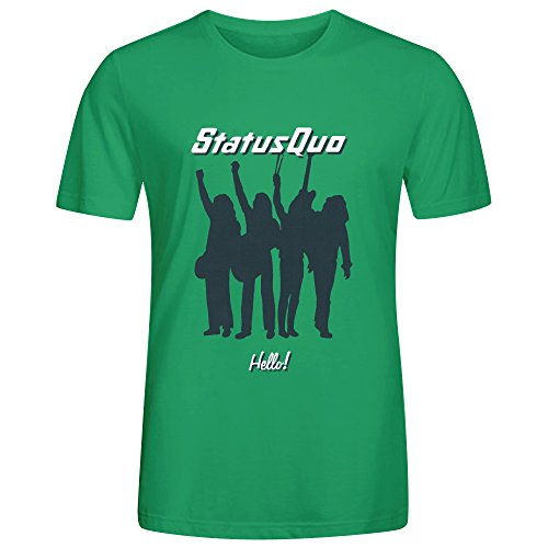 Status Quo Hello Adult Men T Shirt Green