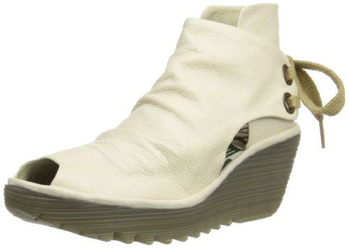 Fly London Womens Yema Boots P500451004 OffWhite 3 UK, 36 EU