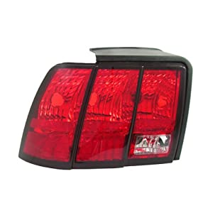1999-2004 Ford Mustang (Except Cobra) Taillight Taillamp Rear Brake Tail Light Lamp Left Driver Side (1999 99 2000 00 2001 01 2002 02 2003 03 2004 04)