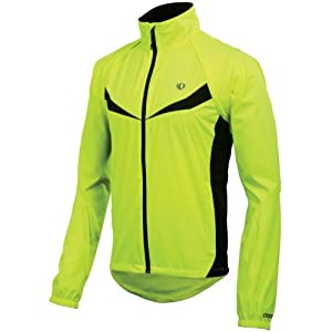 Pearl Izumi Men's Elite Barrier Convertible Jacket,Screaming Yellow/Black,Medium
