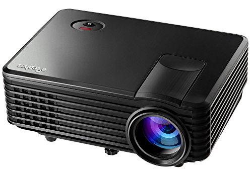 ELEPHAS Multimedia Portable LED Pico Projector for Home Theater/Party/ Video Games on a big screen with USB/AV/SD/HDMI interface-Black