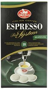 Saquella Espresso Hard Pods Decaff (Pack of 2, Total of 36 Pods)