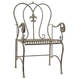 "Metal Arm Chair 23.5""x20.5""x38.5"""