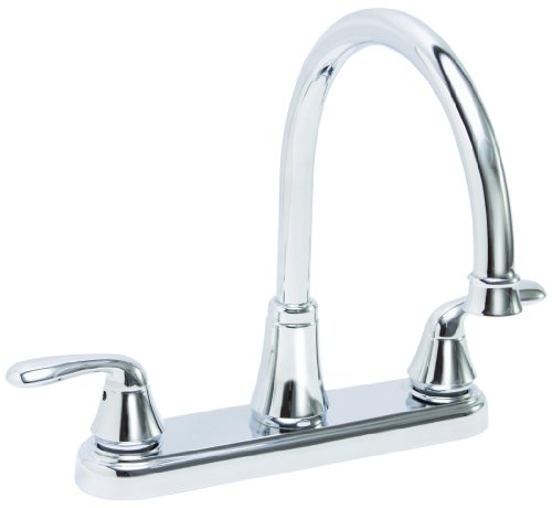 Premier 126965 Waterfront Kitchen Faucet With Two Handles, Chrome, Lead Free (Kitchen Faucet With 2 Spouts compare prices)