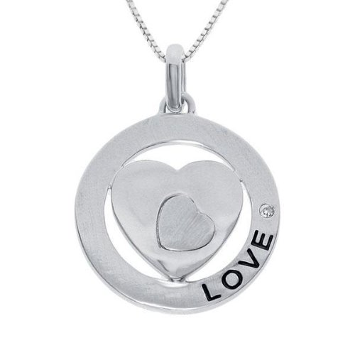 Diamond Heart Love Pendant