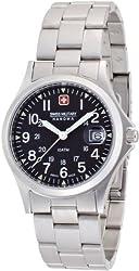 [スイスミリタリー]SWISS MILITARY 腕時計 クラシック ML/17 メタル 黒文字盤 メタルブレスレットタイプ