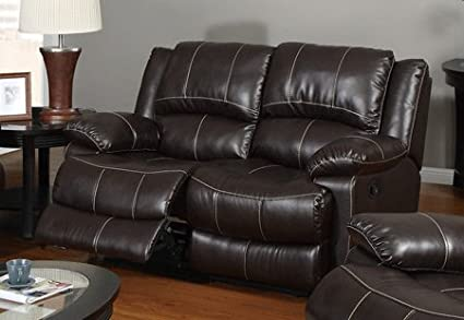 Loveseat in Dark Brown by Poundex