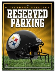 Nfl Pittsburgh Steelers High-Res Metal Parking Sign