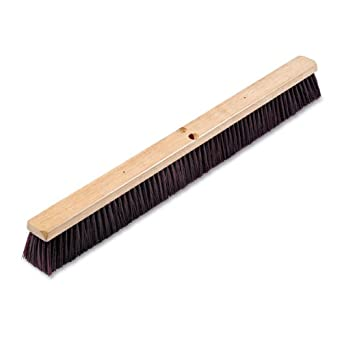 "Boardwalk 20336 Floor Brush Head, 3 1/4"" Maroon Stiff Polypropylene, 36"""