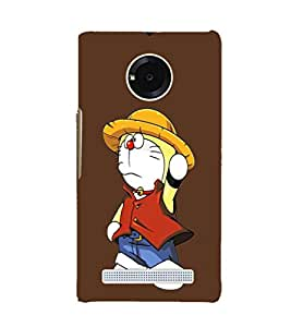 EPICCASE Dorae animated cartoon Mobile Back Case Cover For YU YUNIQUE (Designer Case)