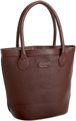 Leatherbay Oxford Tote,Dark Brown,one size