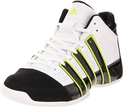 adidas Commander Basketball Sneaker (Little Kid/Big Kid),White/Black/Electricity,11 M US Little Kid