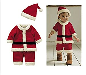 Toddle Baby Kids Boy Girl Christmas Xmas Santa Claus Costume Dress Outfit Party