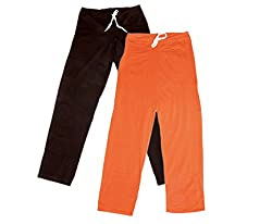 IndiWeaves Women Super Combo Pack 4 (Pack of 2 Lower/Track Pant and 2 T-Shirt)_Brown::Brown::Orange::Red::Purple_XL