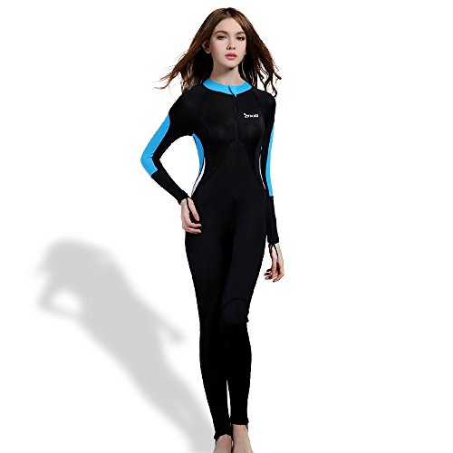 OXA Women's Ultrathin Wetsuits Lycra Full Body Diving Suit for Snorkeling, Swimming and Scuba Diving for Women (Black, XL) (Wet Pants compare prices)