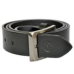 MOSPL Men's Leather Belt (OMBT3007_Black_44)