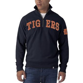 Detroit Tigers 47 Brand Navy 1 4 Zip Striker Pullover by