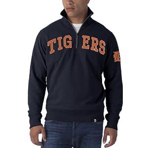 MLB Mens Striker 1 4 Zip Sweater Fall Navy by