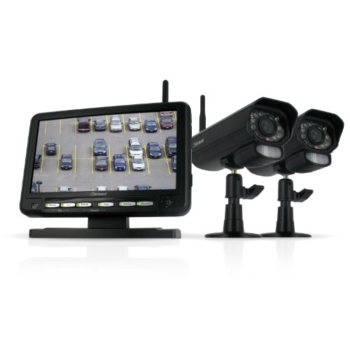 Big Save! Defender Digital Wireless DVR Security System with 7 Inch LCD Monitor, SD Card Recording a...