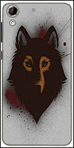 Snoogg Bold Wolf Designer Protective Back Case Cover For HTC Desire 728