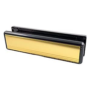 10 inch upvc door letterbox letterplate polished gold