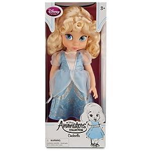 Disney Princess Animators' Collection Toddler Doll 16'' H - Cinderella with Plush Friend Jaq