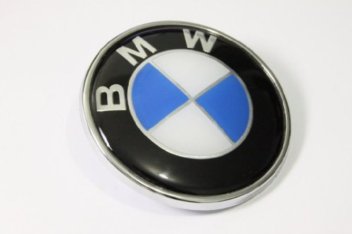 BMW Blue White 82mm 3.23 inch Hood Front Emblem Badge Logo self adhesive (Bmw Logo Hood compare prices)