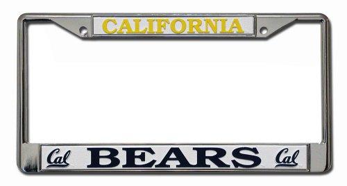 Ncaa California Golden Bears Chrome License Plate Frame
