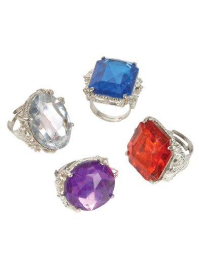 Jumbo Jeweled Rings Assortment (1 dz) - 1