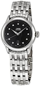 Oris Women's OR561-7604-4099MB Artelier Black Dial Diamond Watch from Oris