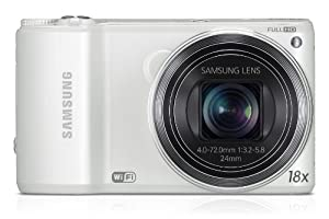 Samsung WB250F Smart Camera 2.0 with Built-In Wi-Fi Connectivity - White (14MP CMOS, 18x Optical Zoom) 3.0 inch HVGA Touch Screen