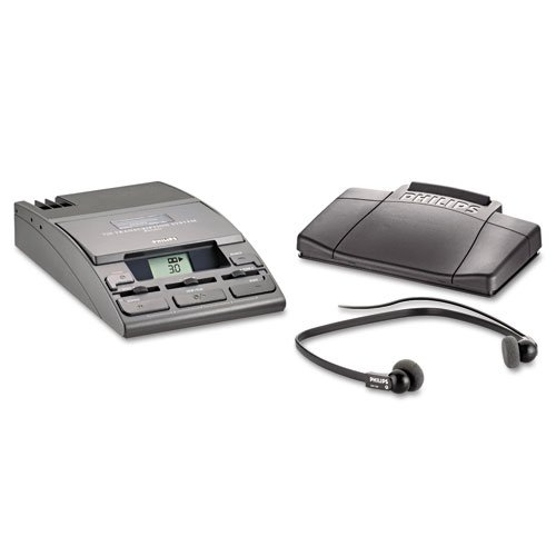Philips : 720-T Desktop Analog Mini Cassette Transcriber Dictation System W/Foot Control -:- Sold As 2 Packs Of - 1 - / - Total Of 2 Each