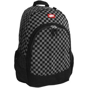 Vans van doren checkerboard print backpack black grey for Vans amazon