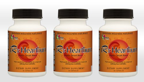 Irxheartburn 3/30 Count Capsules - Value Pack - 3 Pack. Eases The Discomfort From Heartburn, Pain In The Chest, Acid Reflux.