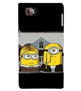 EPICCASE Mr Mrs. Minion Mobile Back Case Cover For Lenovo Vibe Z2 Pro K920 (Designer Case)