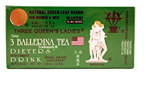 3 Ballerina Tea Three Queens Ladies Dieters Drink (Extra Strength / 18-ct) - 1.88oz