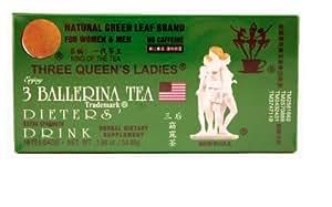 3 Ballerina Tea Three Queens Ladies Dieters Drink (Extra Strength / 18-ct) - 1.88oz